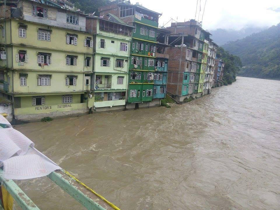 Water Level Rises In Singtam – Sikkim