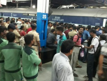 Chaos At NJP Station As People Try To Get In Reserved Carriages