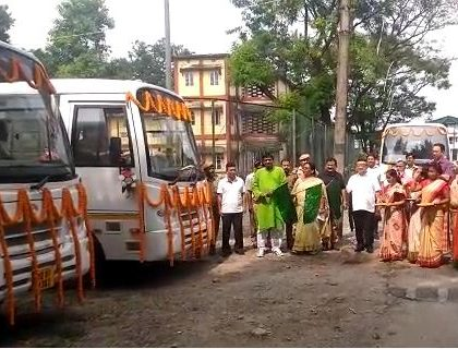 Forest Minister Unveils Four New Buses In Siliguri