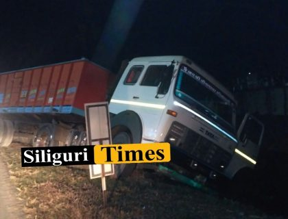 Truck Accident Near School In Bagdogra