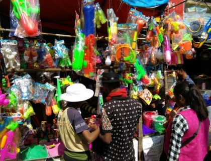 Siliguri Markets Stock Up With Colours & Pichkaris For Holi